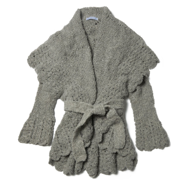 Baby Alpaca Boucle Grey Sweater