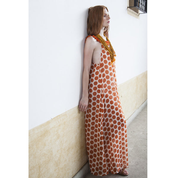 Cotton Gloria Long Printed Dress