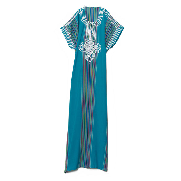Turquoise Cotton Caftan