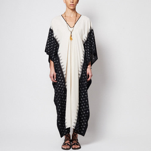 TWO, Ikat Caftan with Black Border