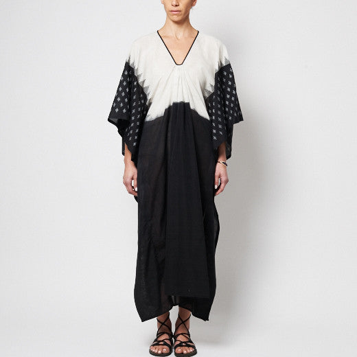TWO, Ikat Caftan with Black Front