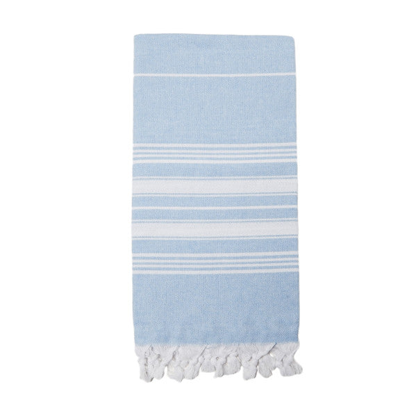 Powder Blue Cotton & Linen Turkish Towel