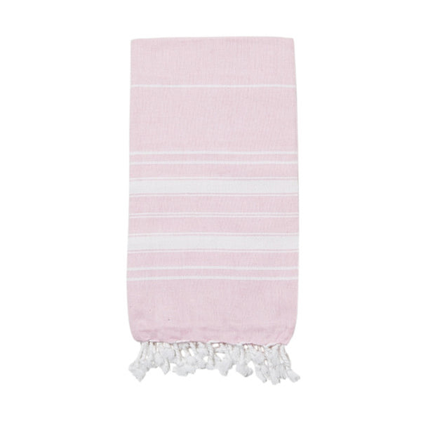 Powder Pink Cotton & Linen Turkish Towel