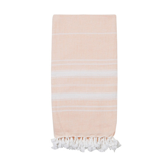 Light Peach Cotton & Linen Turkish Towel