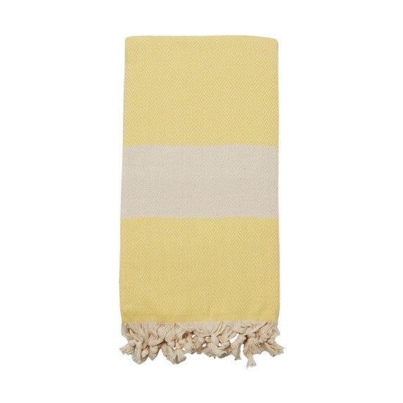Lemon Turkish Cotton & Linen Towel