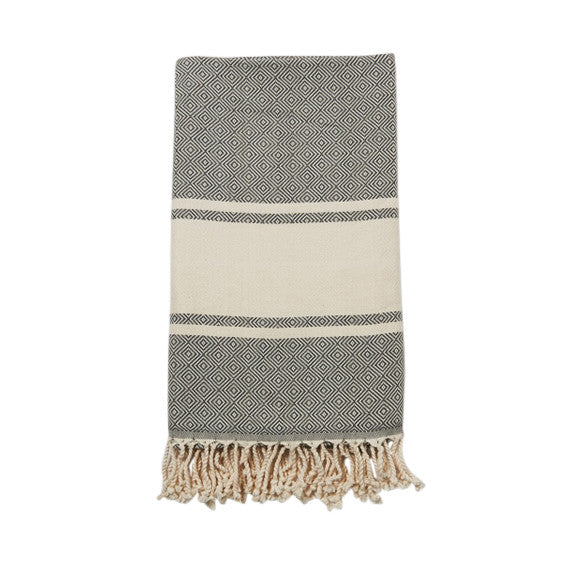 Charcoal Cotton & Linen Turkish Towel