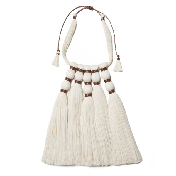 Brown Crines Tassel Necklace