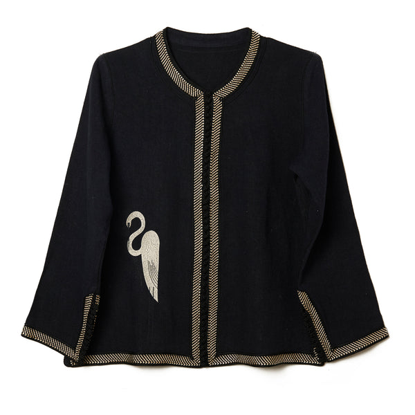 Embroidered Short Heron Tunic
