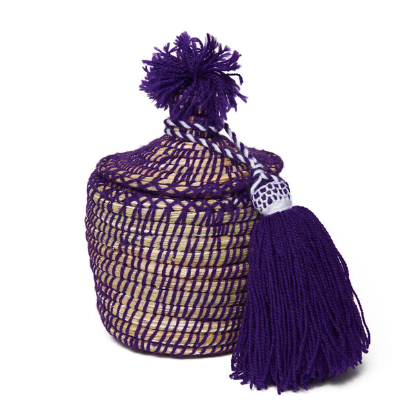 Large Purple Moroccan Basket