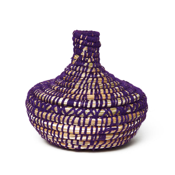 Small Purple Moroccan Basket