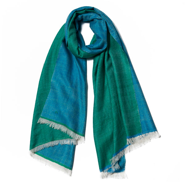 Blue & Green Cashmere Scarf