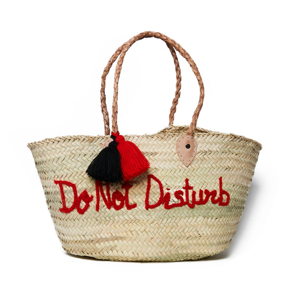 Do Not Disturb Embroidered Basket