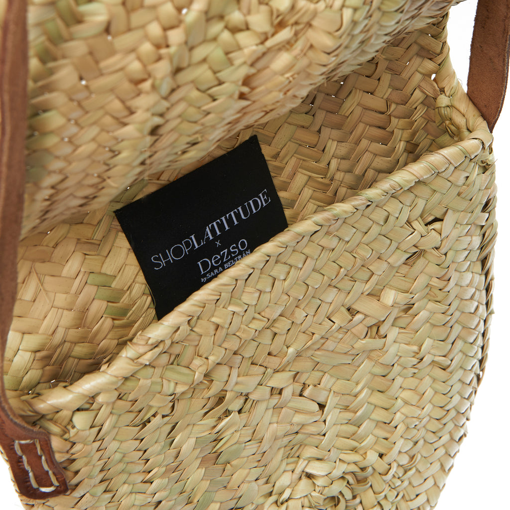 Woven Palm Crossbody Bag