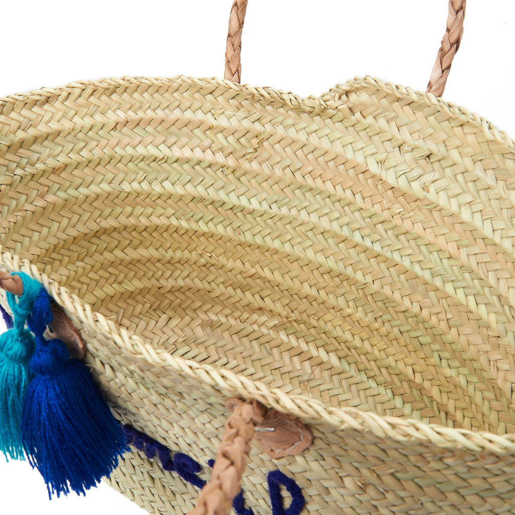 Madame à La Plage Embroidered Basket