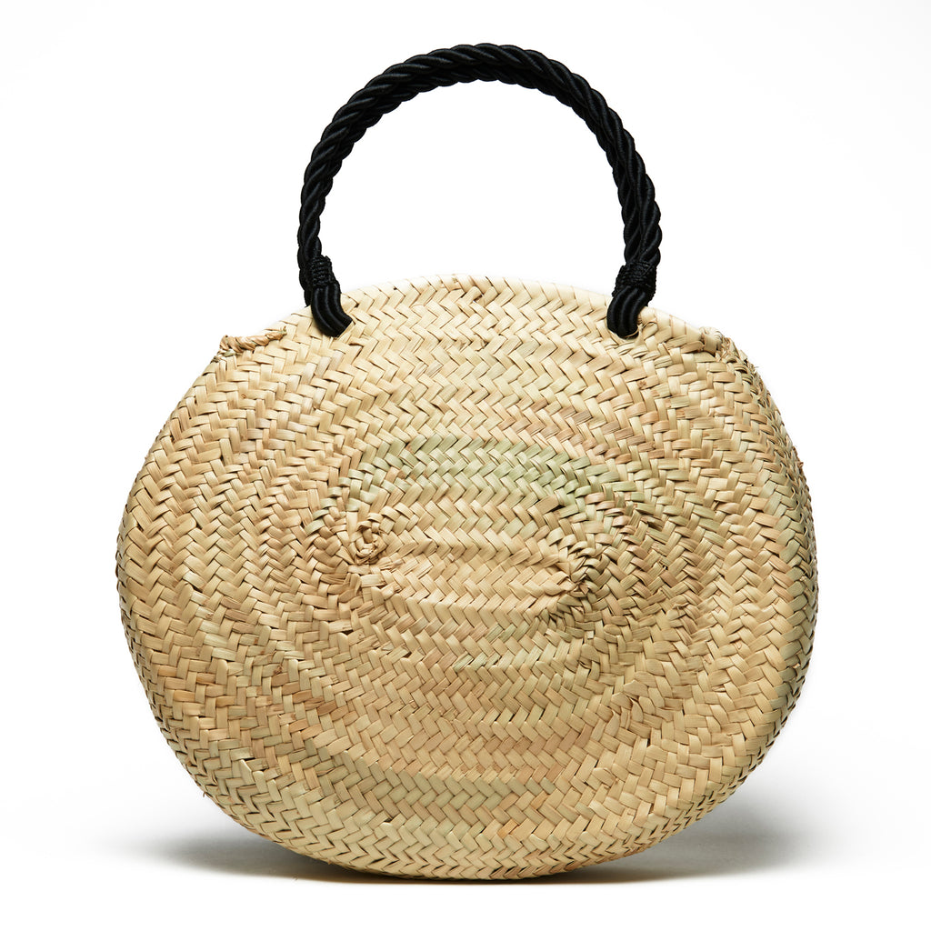 Woven Palm Tassel Tote