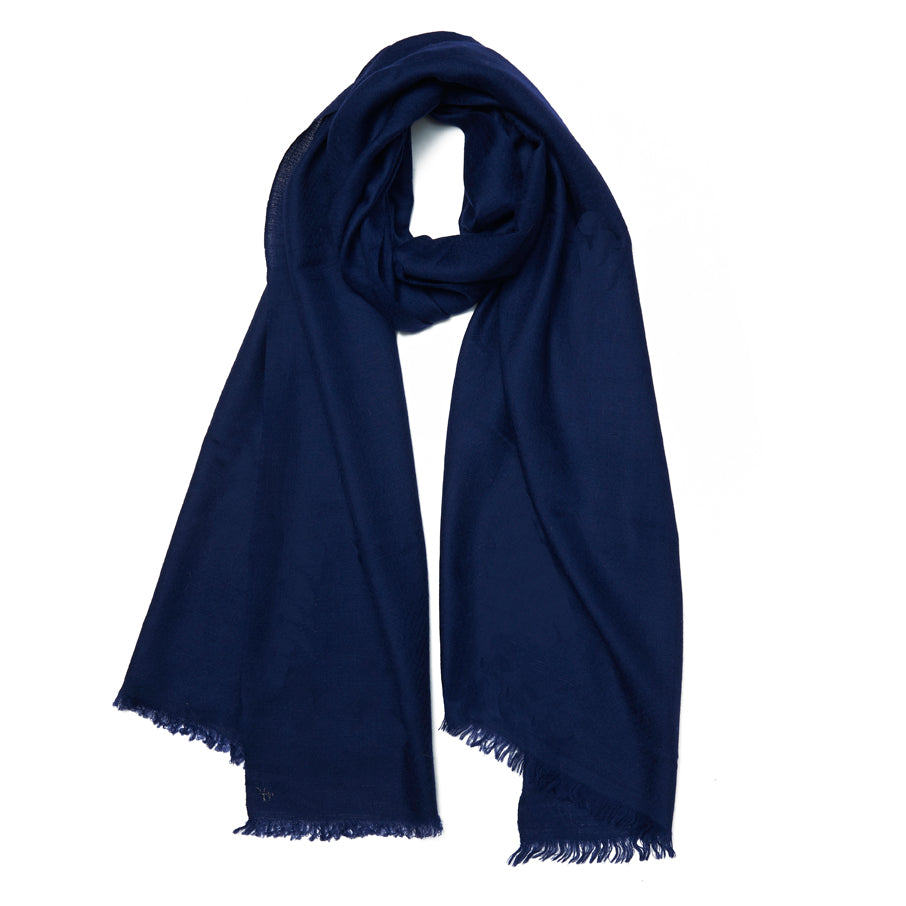 Navy Cashmere Cheshmeh Scarf