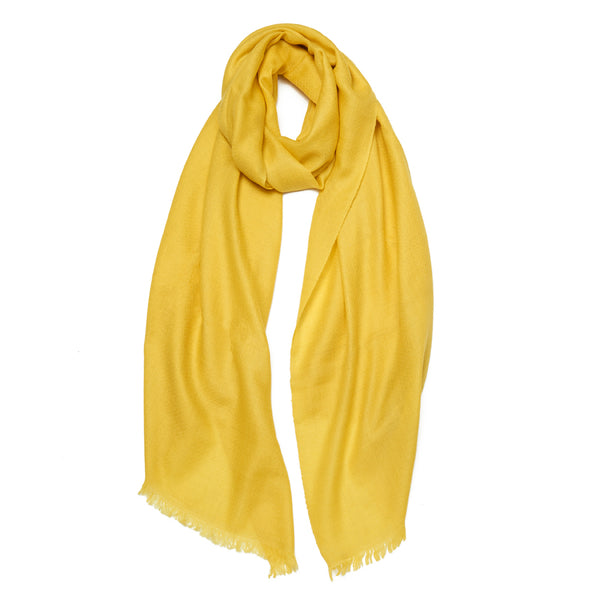 Yellow Cashmere Cheshmeh Scarf