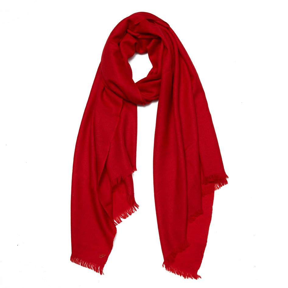 Red Cashmere Cheshmeh Scarf