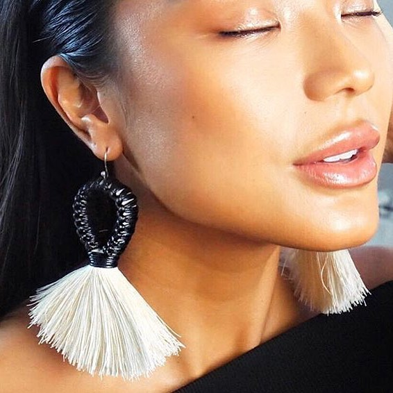 Mazorca Raw Cotton Earrings