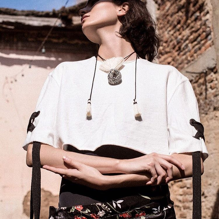 Semilla Raw Cotton Necklace