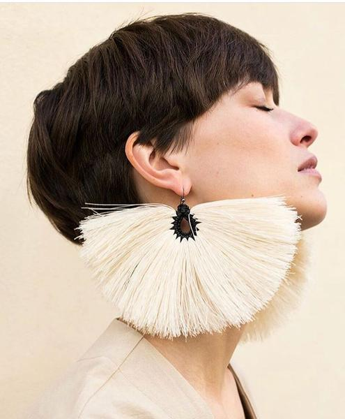 Pavorreal Raw Cotton Earrings