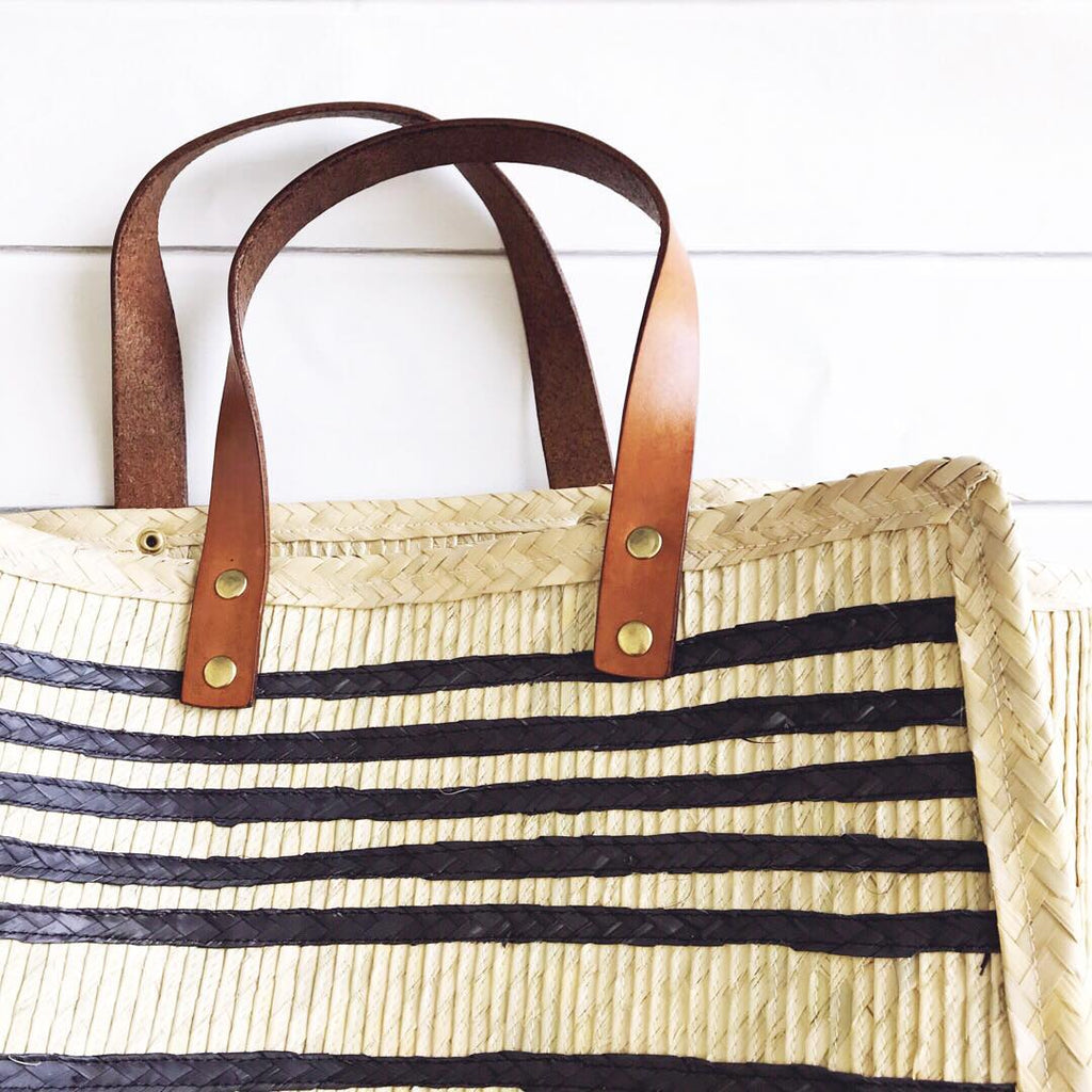 Black Striped California Palm Shopper