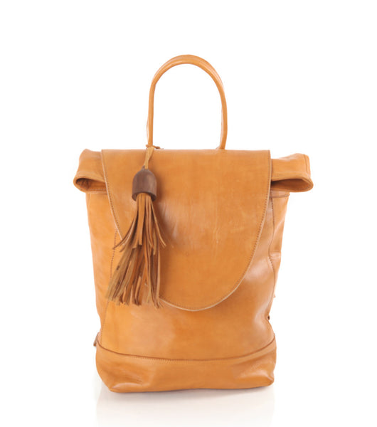 Saffron Desert Leather Backpack