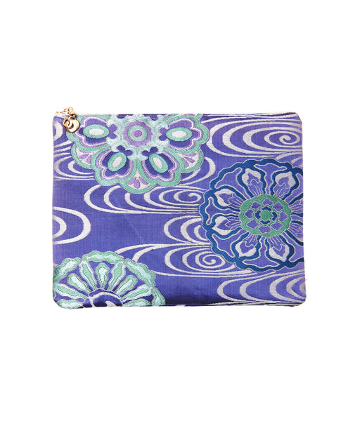 Purple Silk Floral Hanna iPad Clutch