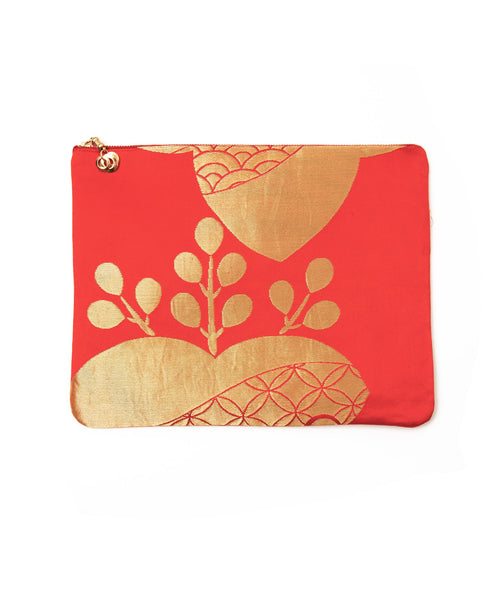 Red Silk Abstract Hanna iPad Clutch