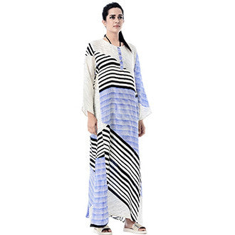 Blue and Black Mata Caftan