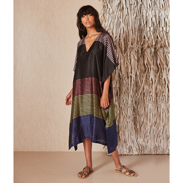 Loua Black Caftan Dress