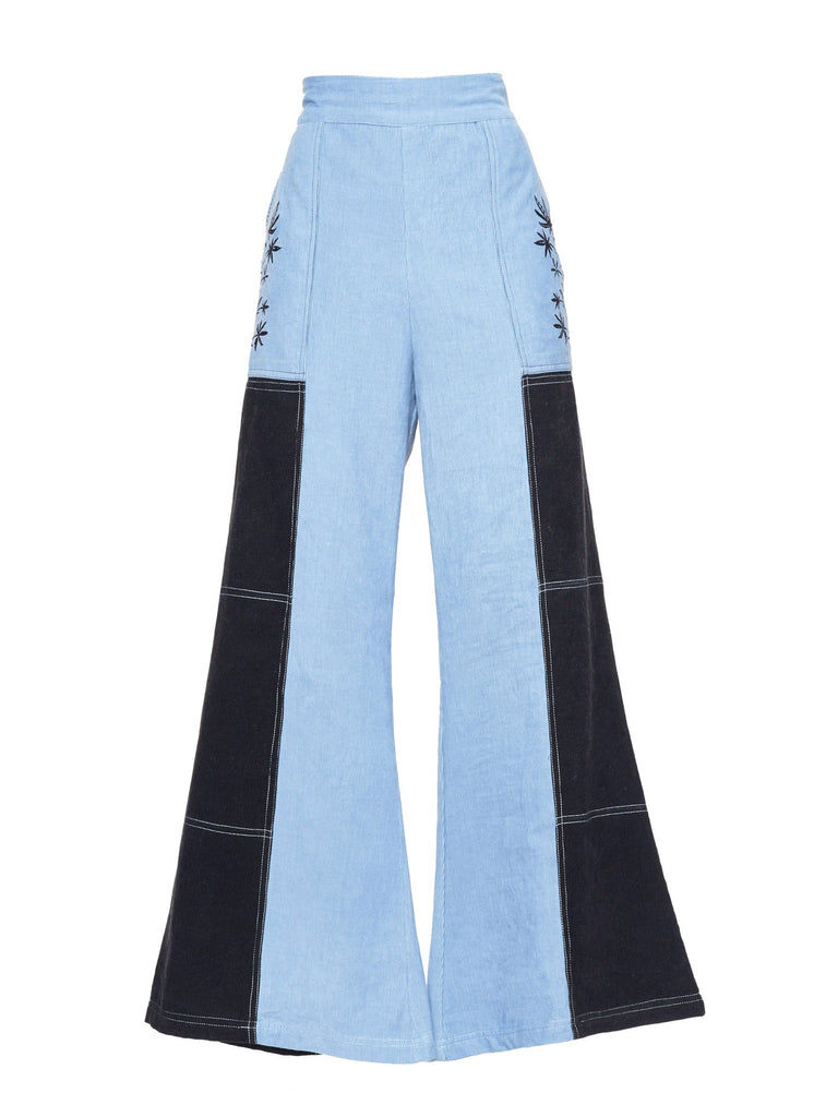 Blue Cotton Lyn Corduroy Pant
