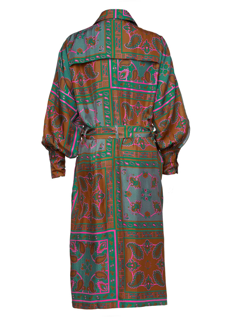 Green Silk Ossie Robe