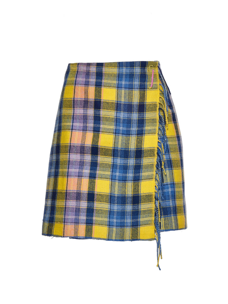 Yellow Wool Clarke Skirt