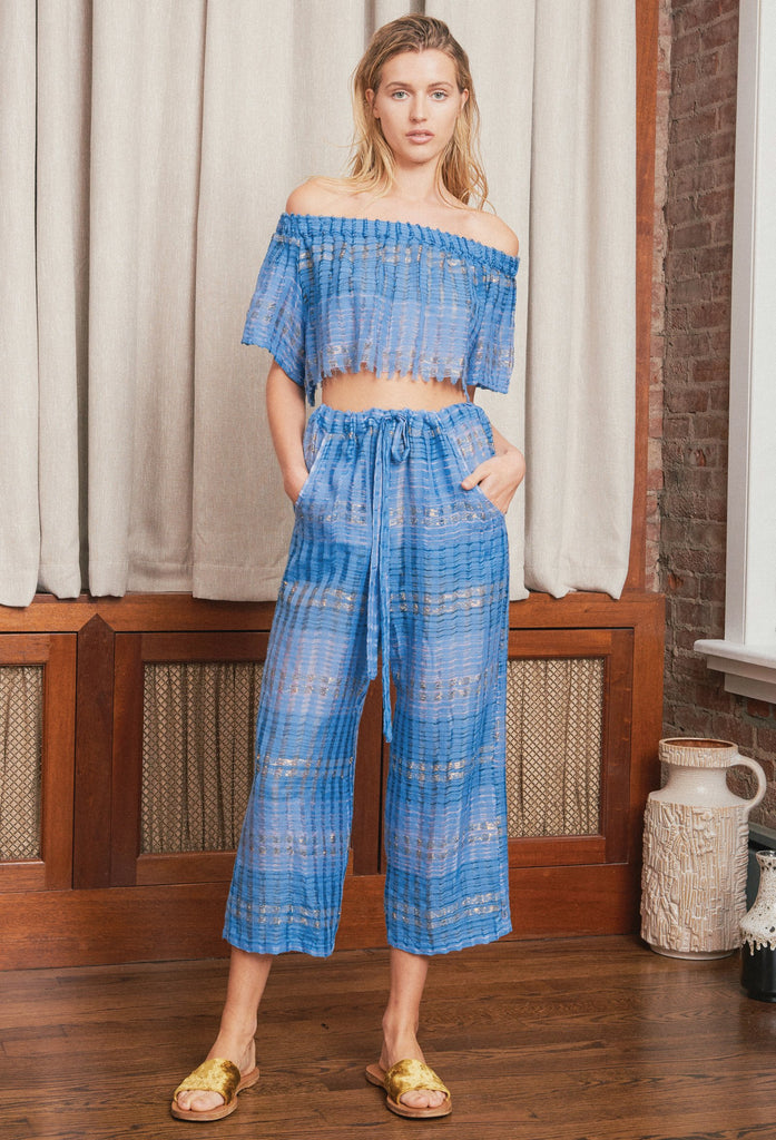 Blue Arima Cotton Pant