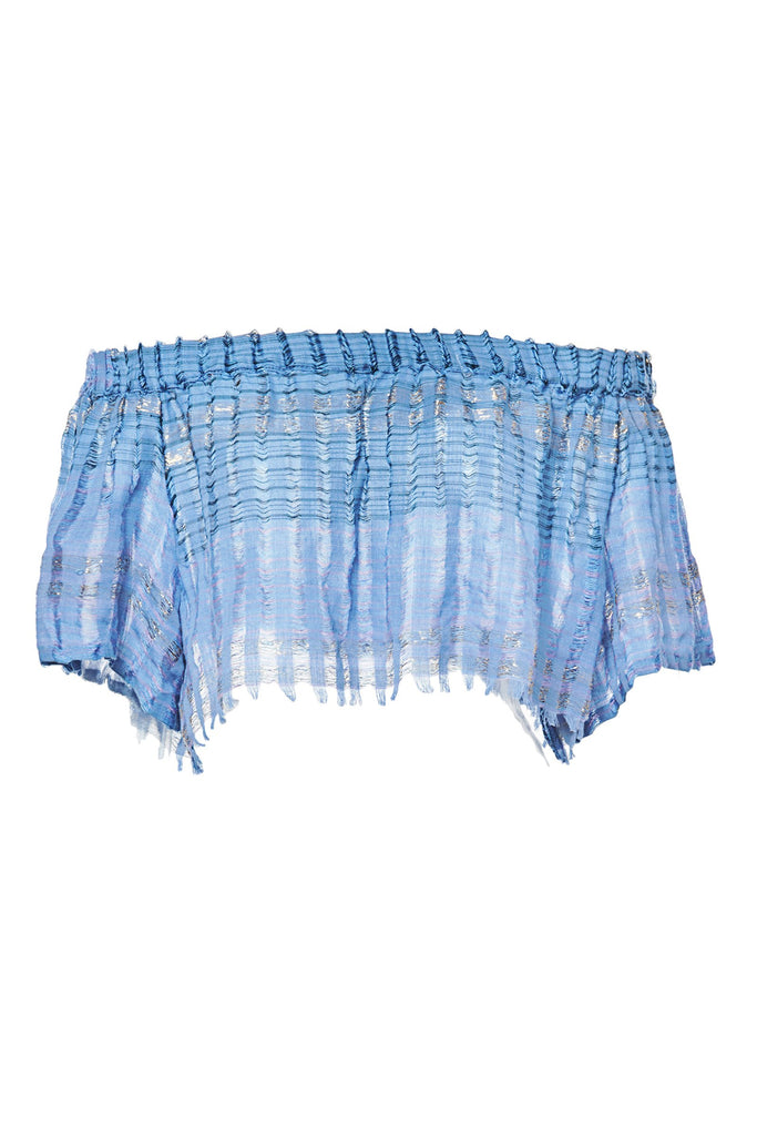 Blue Arima Cotton Crop Top