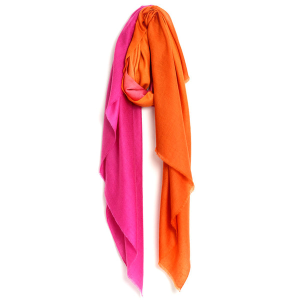 Orange and Pink Kajri Pashmina