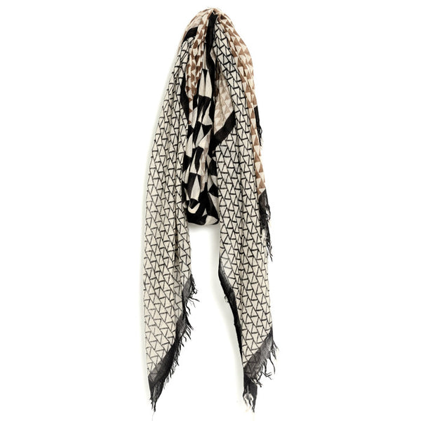 Brown and Black Rabia Pashmina Scarf & Sarong