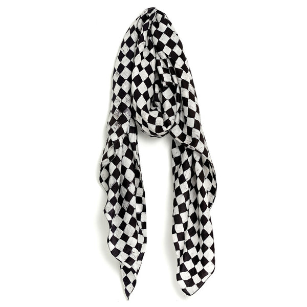 White and Black Chess Pashmina