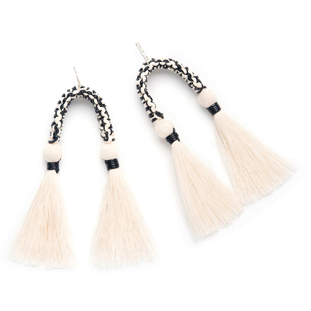 Aldeana Raw Cotton Earrings