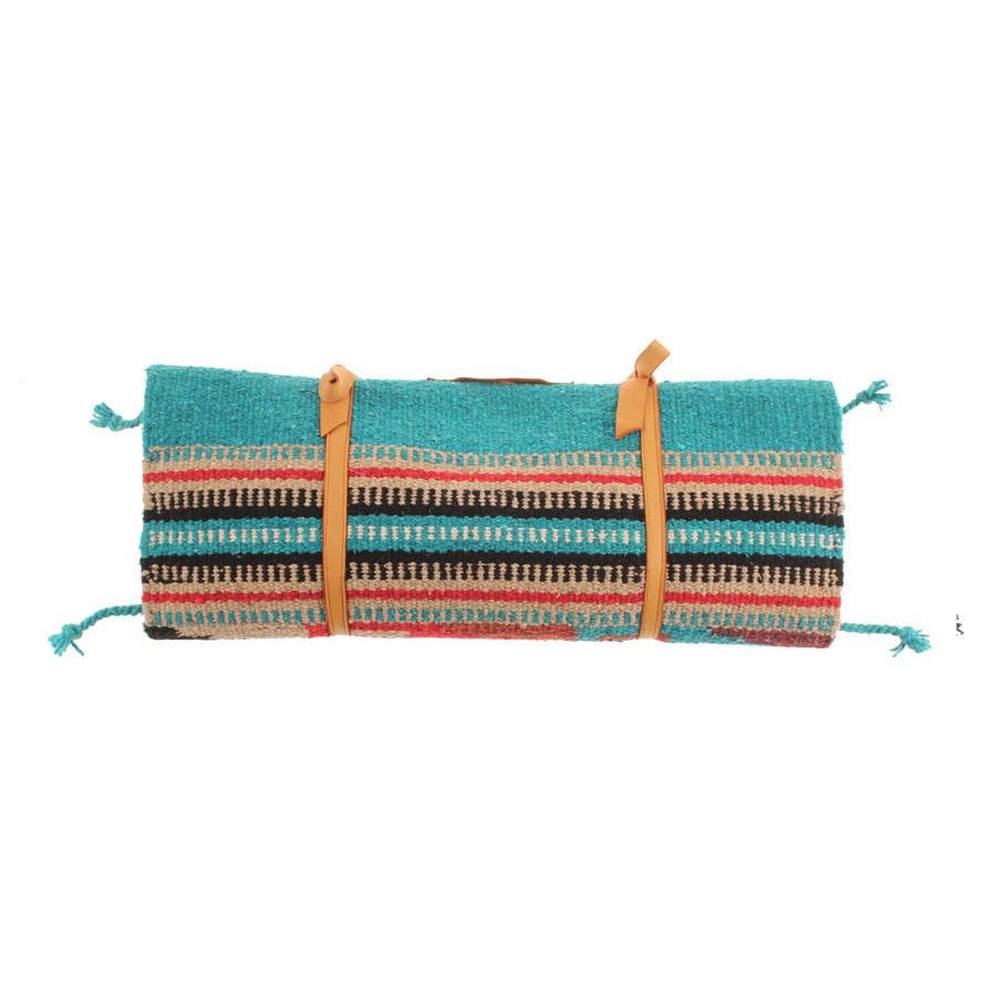 Aqua Stripe Baby Changing Blanket