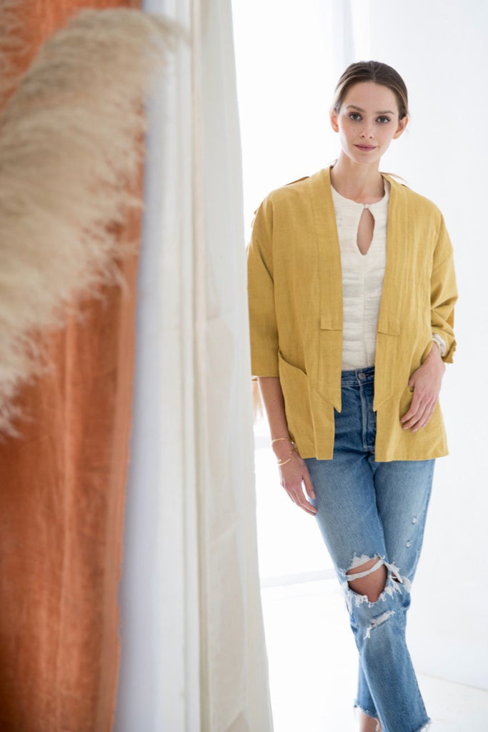 Mustard Cotton Austin Jacket