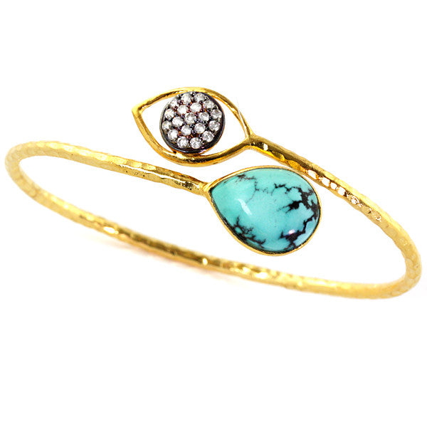 Turquoise 18K Gold Plated Mandy Bracelet
