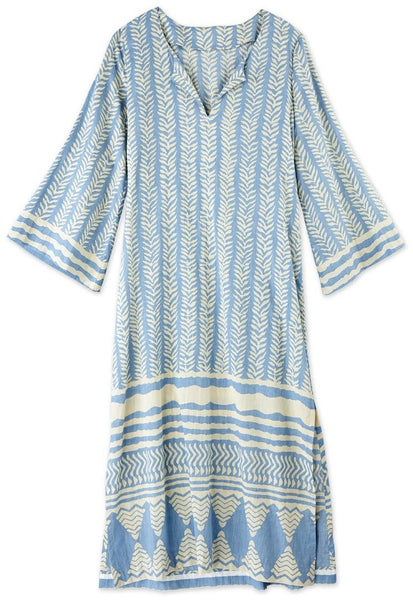Blue Cotton Caftan