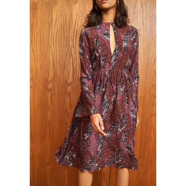 Berry Silk Yatta Dress