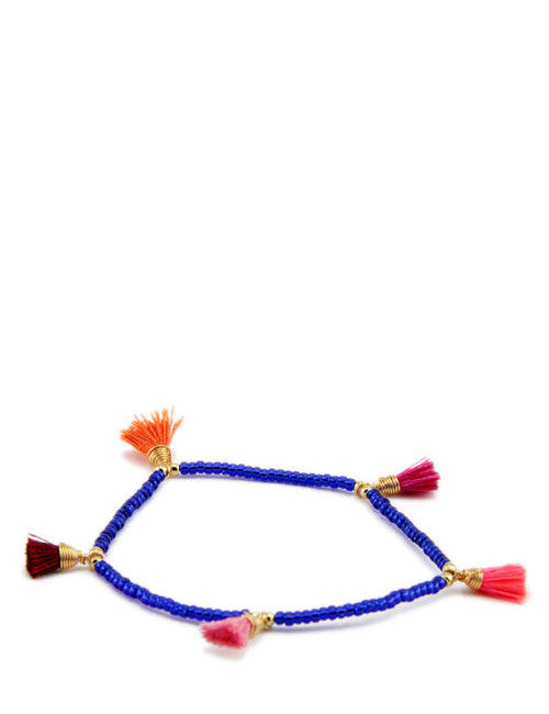 Royal Blue Bimi Tassel Bracelet