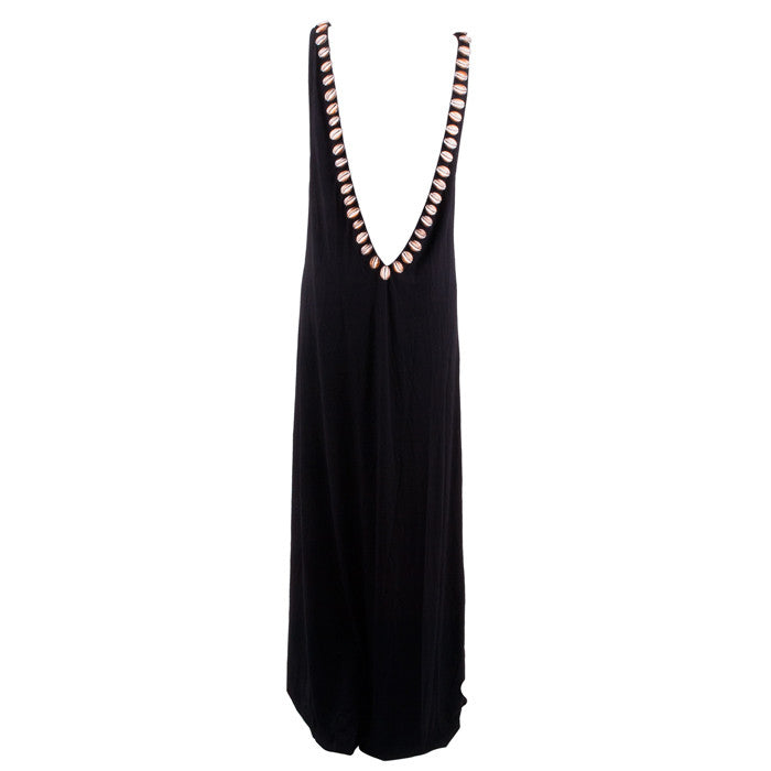 Black Bamboo Backless Dress