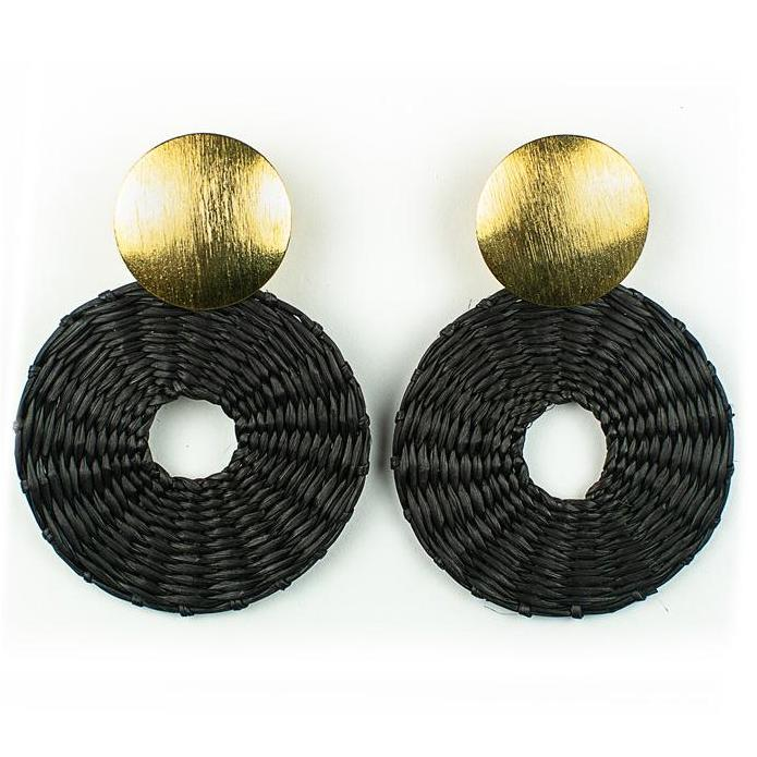 Black Palm Salome Earrings