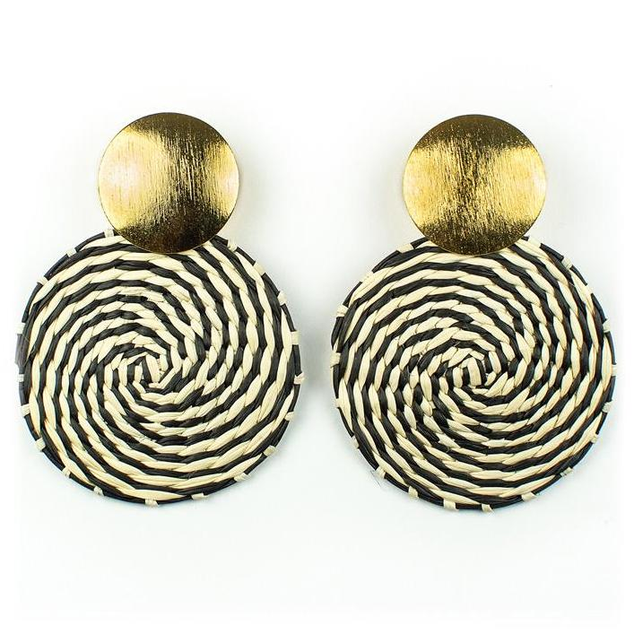 Black & White Palm Antonella Earrings