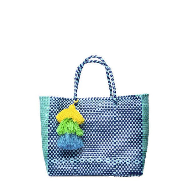 Blue Stella Small Short Handle Tote